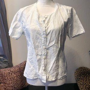flax by jeanne engelhart  linen button down shirt